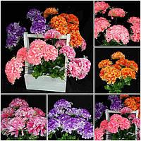 Искусственные цветы - однотонная калинка, разные цвета, выс. 47 см., 10 голов, 10 шт. в упаковке, 31 гр.