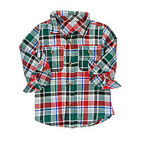Детская фланелевая рубашка для мальчика.  4 года
