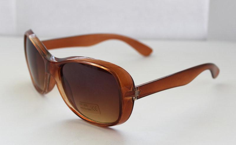 Модные солнцезащитные женские прямоугольные очки карамельного цвета
