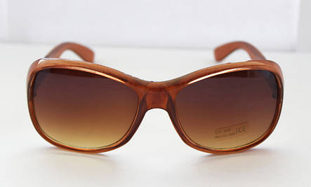 Модные солнцезащитные женские прямоугольные очки карамельного цвета, фото 2