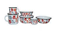 Набор детской эмалированной посуды Epos 163 (Cat)