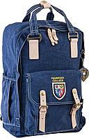 Рюкзак подростковый ортопедический ТМ 1 Вересня OX 195, синій, 27.5*42*12, фото 1
