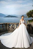 Свадебное платье атлас юбка с пуговичками