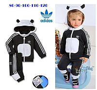 """Стильный детский костюм """"Adidas"""" (унисекс, ткань трикотаж, на капюшоне ушки)"""