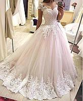 Свадебное платье пудра спадающие плечики