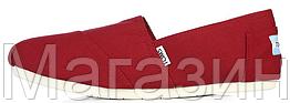 Мужские эспадрильи Toms 2019 Red (Томс) красные