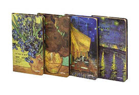 """Блокнот LYH50965-2630D """"Van Gogh"""" в линию, с золотым напылением (96 листов, 10.5*18.4 см.)"""