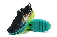 Nike Flyknit Air Max Black Volt Dark Green Algae White 39