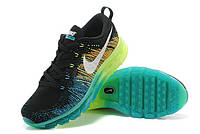 Nike Flyknit Air Max Black Volt Dark Green Algae White