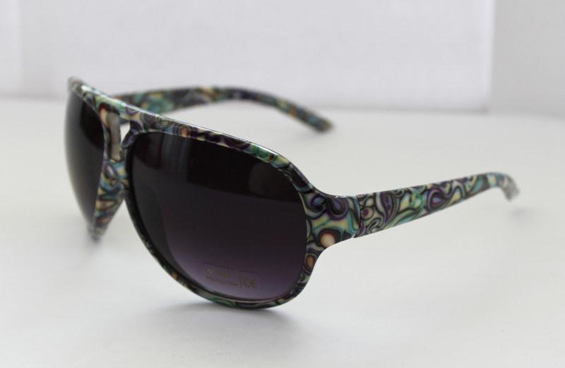 Радужные женские очки от солнца в овальной оправе