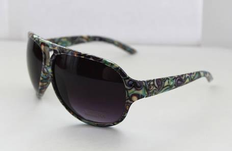Радужные женские очки от солнца в овальной оправе, фото 2