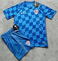Футбольная форма Хорватия синяя сезон 16-17 короткий рукав