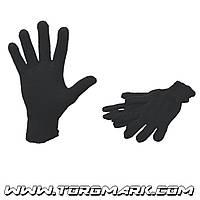 Перчатки х/б 7 класс, 3 нити черные зимние