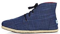 Мужская летняя обувь Toms высокие (Томс) синие