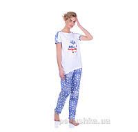 Комплект женский Miss First Usa белый S футболка+шорты