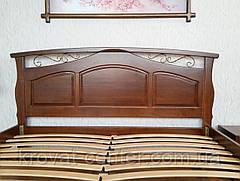 """Большая деревянная кровать """"Марго"""" (200*200см.), массив - сосна, ольха, береза, дуб., фото 2"""