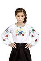 Блуза для девочки Волошковое поле | Блуза для дівчинки Волошкове Поле