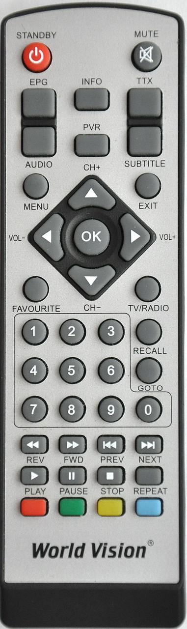 Пульт от тюнера эфирного цифрового телевидения World Vision. Модель T38/T39/59