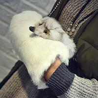 Меховая женская сумка из кролика. Муфта - сумка из меха