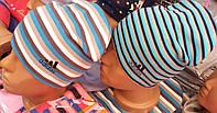 Весенние трикотажные шапки для мальчиков ,объем 46-54 см S222