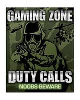 "Постер мини  ""Duty calls - noobs beware"""