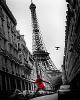 "Постер мини  ""La Veste Rouge, Paris"""
