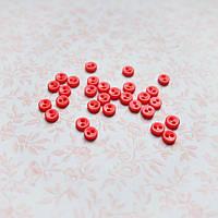 """Пуговицы 5мм mini """"КРАСНЫЕ""""  для рукоделия, скрапбукинга, тедди - 10 шт, США"""
