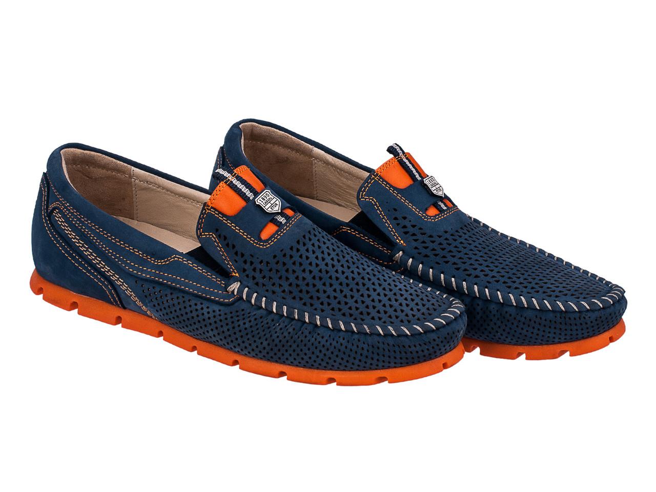 Мокасины Etor 14211-16654-734 42 синие