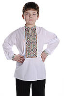 Рубашка для мальчика Свитозар | Сорочка для хлопчика Світозар