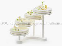 """Подставка для торта Modecor """"Белое Облако"""" - Ø28 см, фото 1"""