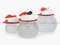 """Набор подставок для торта Modecor 30018 """"Кристальный Шар"""" - Ø35/30/30 см, фото 1"""