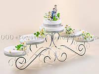 """Підставка для торта Modecor """"Обійми"""" - O30/30/30/26/26 см"""