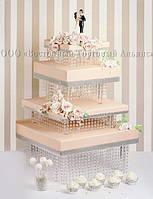 """Підставка для торта 4-ярусна Modecor """"Імперський Квадрат"""" - L20/30/40/50 см"""