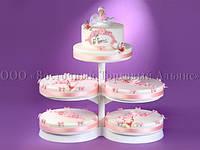Підставка для торта розсувна 5-ярусна Modecor - Ø23/27/27/28/28 см