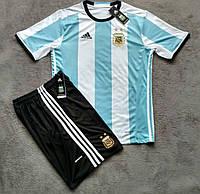Футбольная форма Аргентина бело-голубая сезон 16-17 короткий рукав