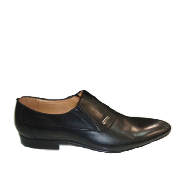 Туфли мужские классические весна осень натуральная кожа черные 41
