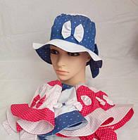Летняя шляпка для девочки. Размер: 52-54