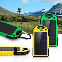 Солнечное портативное зарядное устройство POWER BANK 10000mAh защищённое!, В наличии