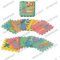 Коврик мозаика M 2736 EVA украинский алфавит, цифры, 10 деталей по несколько цифр, букв, в кульке 29*29*8 см