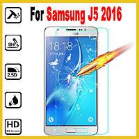 Защитное стекло для Samsung Galaxy j5 2016 j510 j510h - 0.30 мм, 9H !!