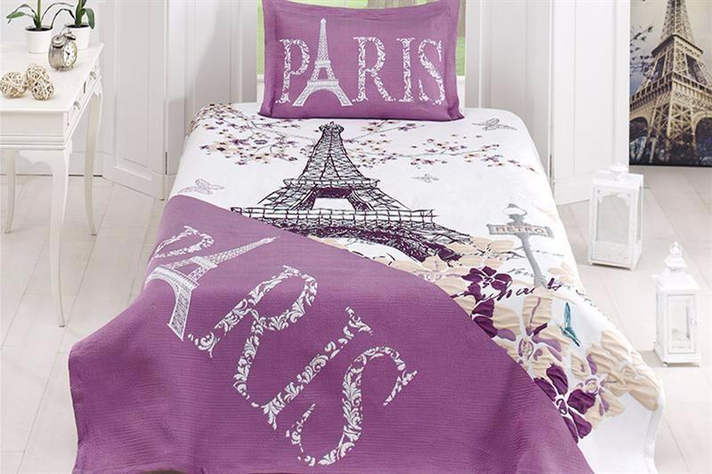 Покрывало 180*240 с наволочкой 50*70 First Choice Carnival LIFE PARIS