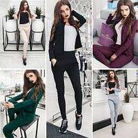 Модный женский костюм жакет + брюки в расцветках / Украина / джинс