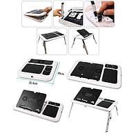 Раскладной портативный столик - подставка для ноутбука с охлаждением Е-Table, В наличии