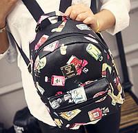 Жіночий рюкзак міський із принтом, фото 1