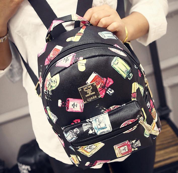 Жіночий рюкзак міський із принтом