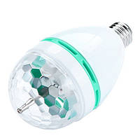 Вращающаяся диско лампа для вечеринок, светодиодная лампа, светомузыка, LED Mini Party Light Lamp, дискотека, В наличии