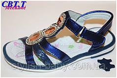 Летняя обувь оптом. Детские кожаные босоножки бренда Meekone для девочек (рр. с 26 по 31)