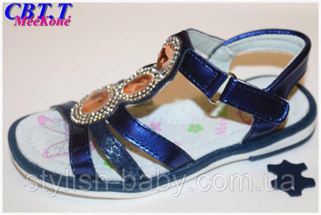 Летняя обувь оптом. Детские кожаные босоножки бренда Meekone для девочек (рр. с 26 по 31), фото 2