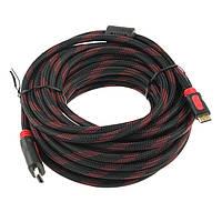 Кабель HDMI - HDMI 15 метров, усиленная обмотка, качественная передача данных, В наличии