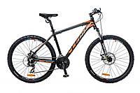 """Велосипед 26"""" Leon HT-85 AM 14G Vbr рама-20"""" Al черно-оранжевый 2016"""